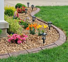 Rock Garden Beds Rock Flower Beds Pertaining To Wonderfulday In Home