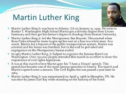 biography for martin luther king martin luther king jr biography essay sles dissertation