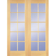 Solid Core Interior Doors Home Depot Builder U0027s Choice 48 In X 80 In 10 Lite Clear Wood Pine Prehung