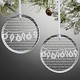 personalized family ornaments glass tree