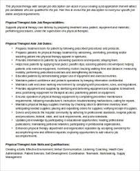 Sample Physical Therapist Assistant Resume by Sample Physical Therapist Resume 8 Examples In Word Pdf