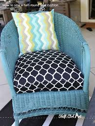 Patio Pillow Covers How To Sew A Half Round Seat Cushion Cover For My Outdoor