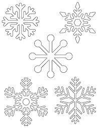 easy snowflake coloring pages kids 33758