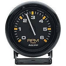 auto meter 2306 autogage pedestal mount mini tach 6 000 rpm jegs