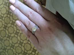 wedding ring with two bands two wedding bands around engagement ring can i see you