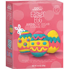 easter egg kits easter egg rainbow sugar cookie kit crafty cooking kits