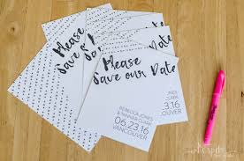 make your own save the dates diy neon edged save the dates free printable bespoke decor