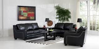 Black Leather Sofa And Chair Black Leather Sofa Set Luxury Design 2018 2019 Sofa And