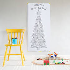 colour in u0027patchwork u0027 christmas tree poster by so close