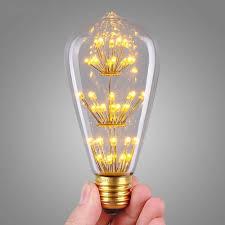 new design st64 fireworks led light bulb e27 edison vintage style