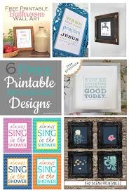 6 free printable bathroom designs food life design
