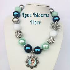 chunky bead necklace images Teal princess chunky bead necklace love blooms here online jpg