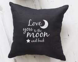 love you to the moon and back cushion emodi