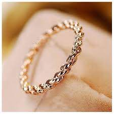 finger gold rings images Twist design 18k rose gold finger ring jpg