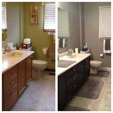 bathroom makeover general finishes java gel stained cabinets