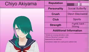 chiyo fanon wiki fandom powered by wikia image chiyo akiyama profile png yandere simulator fanon wikia