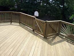 wood deck and gate with boards on 45 degree angle wood decks