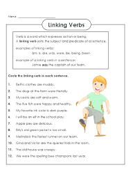 practice identifying linking verbs today freeenglishworksheets