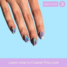 funky holo nail art tutorial u2013 mitty nail art tools u0026 brushes