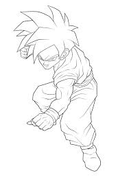 gohan coloring pages qlyview com
