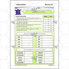 a million numbers roman numerals ks2 worksheet complete series