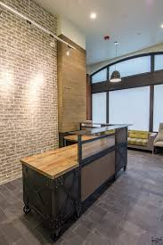 Wood Reception Desk Wonderful Wood Reception Desk Hand Made Contemporary Reclaimed