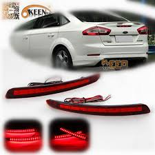 2011 ford fusion tail light okeen red lens led rear bumper reflector light for ford mondeo