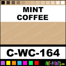 mint coffee crystal blossom ceramic paints c wc 164 mint