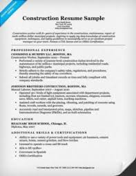 Sample Resume For A Construction Worker Construction Cover Letter Sample Resume Companion