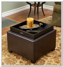 fabulous storage ottoman with tray ottomans contemporary square