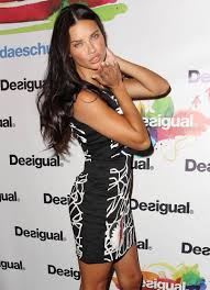 adriana lima black and white dresses hairdressers and makeup