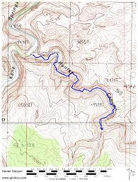Map Of Moab Utah by Gjhikes Com Hunter Canyon
