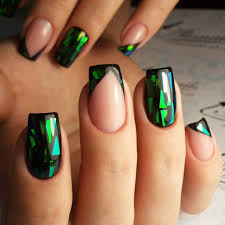 trendy shattered glass french mani one1lady com nail nails