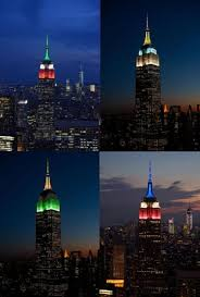 Virgin Islands Flag Empire State Building Honors Victims Of Earthquake Hurricane Ny