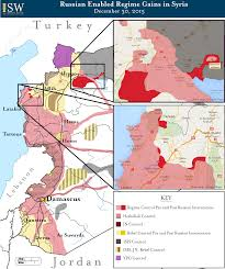 Map Of Syria And Russia Russian Enabled Regime Gains In Syria December 30 2015