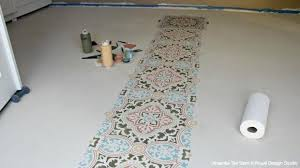 how to stencil a concrete floor in 10 easy steps royal design