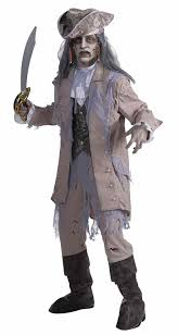 amazon com men u0027s zombie pirate ghost costume gray beige one