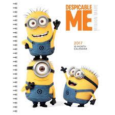 minion desk calendar 2017 despicable me 2017 engagement planner 9781620216156 calendars com