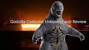 Godzilla Halloween Costumes Inflatable Godzilla Costume Unboxing Review