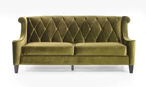 armen living barrister sofa green velvet al lc8443green at