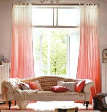 Sheer Coral Curtains Ombre Curtains Salmaun Me