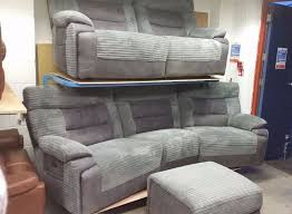 Curve Sofas Brand New La Z Boy From Scs 4 Seater Curve Power Recliner 3