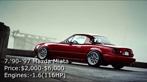 mazda cheapest car top 10 cheapest jdm cars under 10k youtube