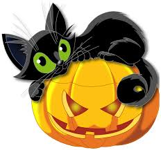 halloween free clipart large transparent halloween pumpkin with black cat clipart