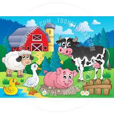 cartoon farm animals theme image by clairev toon vectors eps 71631