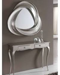 console table and mirror set modern console table and mirror set in silver finish 33c61