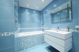 bathroom light blue latest bathroom color trends with built in