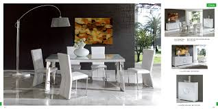 White Dining Room Chairs Ultra Modern Dining Room Sets Mannycartoon Intended For Ultra