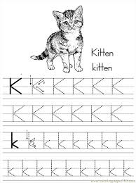 alphabet abc letter k kitten coloring pages 7 com coloring page