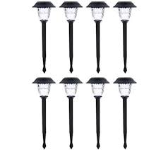 duracell set of 8 solar pathway lights with color lock page 1